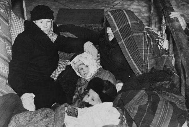 Эвакуация финской семьи