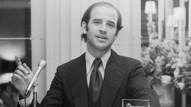 Joe Biden en la década de 1970.
