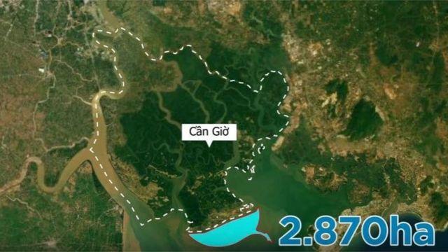 Dự án dự tính sẽ lấn biển 2.718 ha