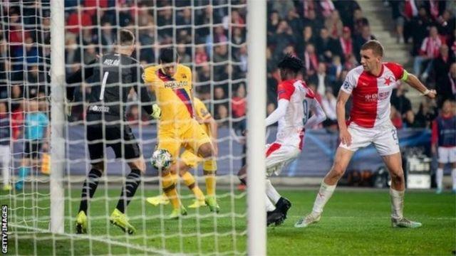 Barcelona na Slavia Prague