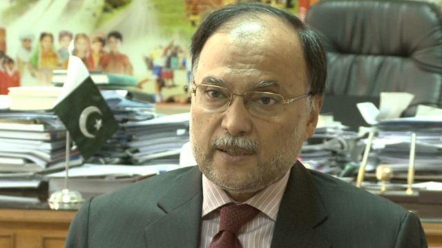 د کورنیو چارو وزیر احسن اقبال