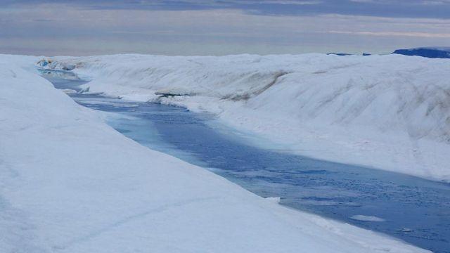 Un río en Groenlandia