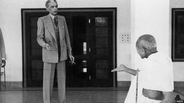 महात्मा गांधीसोबत जिना