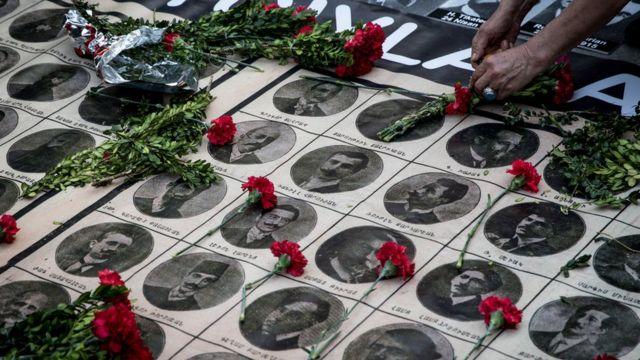 صورة من فعاليات إحياء ذكرى المذبحة في اسطنبول في أبريل/نيسان 2018
