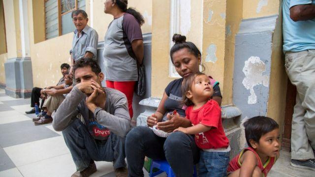 Inmigrantes venezolanos en Perú.