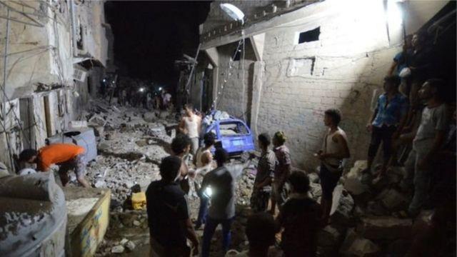 यमन में हुए हमले में कम से कम 19 लोगों की मौत