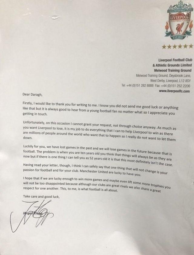 Писмо од Јиргена Клопа