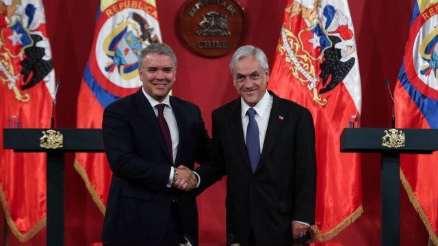Iván Duque e Piñera