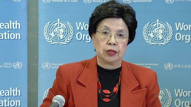 WHO director general, Margaret Chan