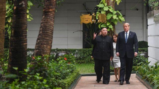 лидеры США и КНДР