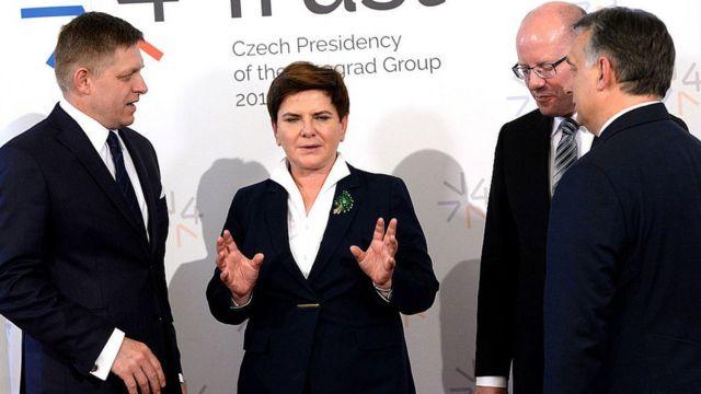 Роберт Фицо, Беата Шидло, Богуслав Соботка и Виктор Орбан