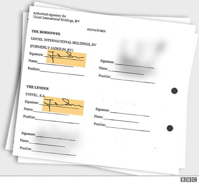 Os documentos vazados mostram que Isabel dos Santos assinou empréstimos da Unitel como credora e mutuária