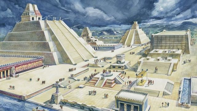 Una ilustración de Tenochtitlan