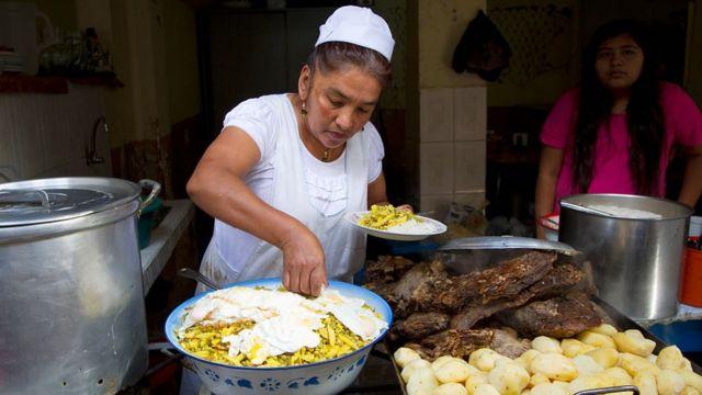 Vendedora en Bolivia