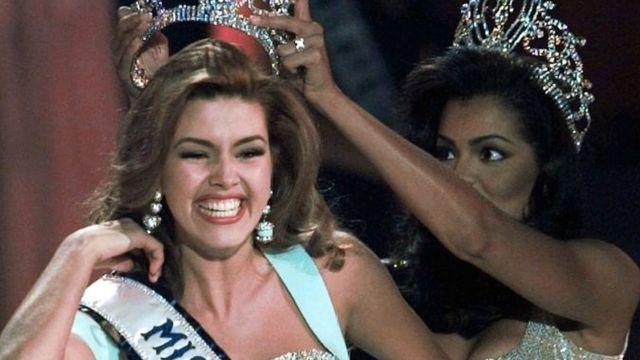 Alicia Machado in 1996 Miss Universe