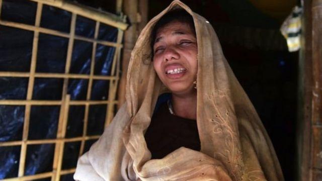 রোহিঙ্গা মা নূর বেগম ক'দিন আগে হারিয়েছেন তার ছয় বছর বয়সী সন্তান আলমকে, ফাইল ফটো