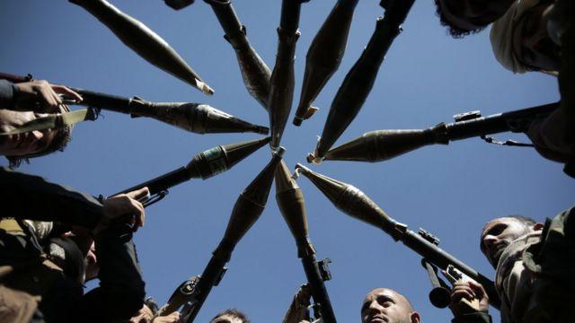 مسلحو قبائل موالية للحوثيين