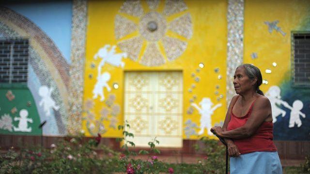 Serapia Chicas en El Mozote en 2012.