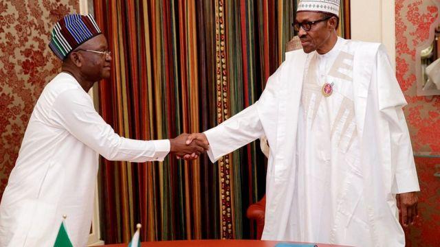 Aarẹ Buhari pẹlu Gomina ipinlẹ Benue
