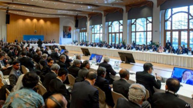مفاوضات جنيف بشأن الأزمة السورية