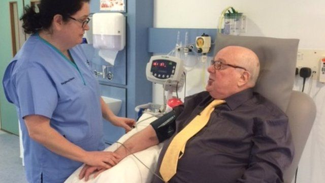 Sam Keers, who was diagnosed with prostate cancer, is one of a number of people taking part in the pilot scheme