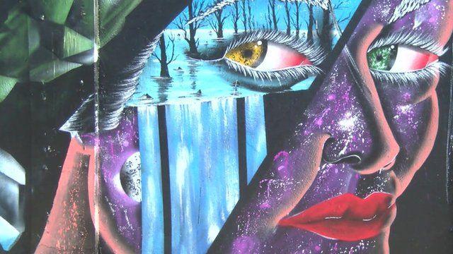 Woman in Brazilian artwork