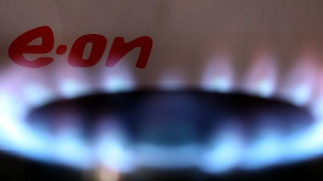 Gas emitting from kitchen hob with E.On logo