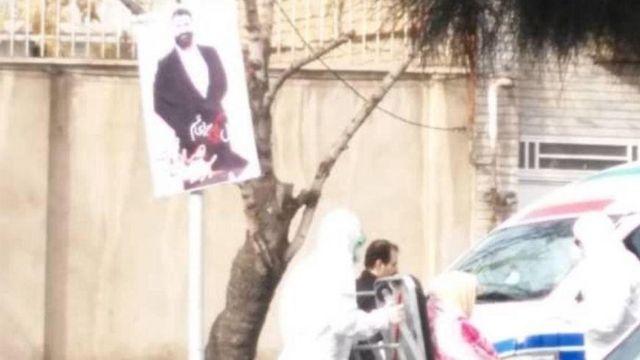 عکسی از مقابل بیمارستان علی ابن ابیطالب قم که گفته میشود به بیمار مبتلا به کرونا مربوط است