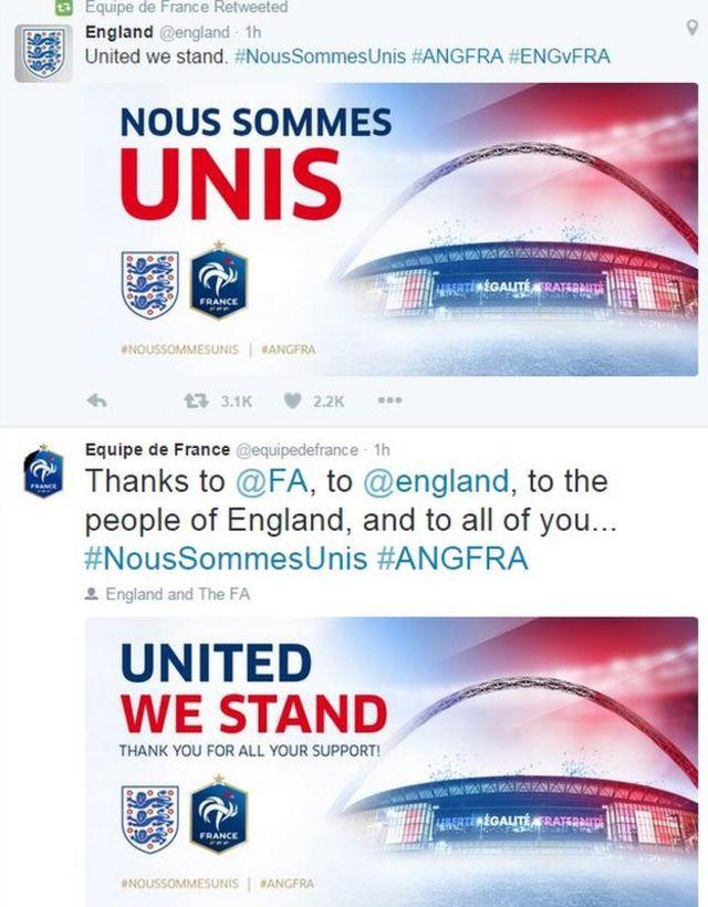 FA tweets