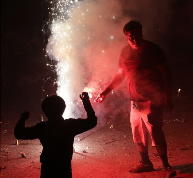 Diwali in Delhi: A colourful night turns smoggy grey