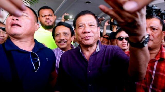 Philippine president-elect Rodrigo Duterte