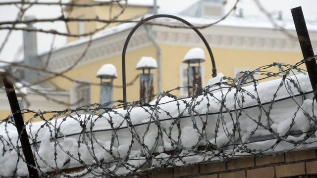 The walls of Lefortovo prison in Moscow