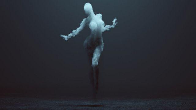 Figura humana de humo.