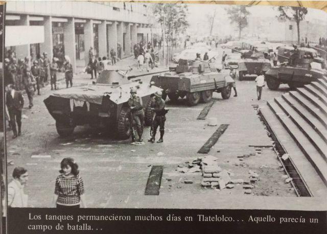 Tanques en Tlatelolco