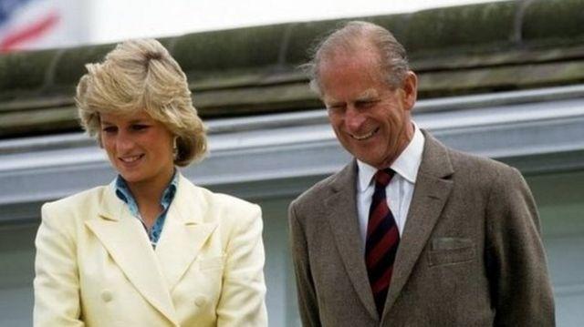 ආදිපාදවරයා වේල්සයේ කුමරිය, ඩයනා සමග The Duke with Diana, Princess of Wales / Copyright: Rex Features - NB Syndication restricted