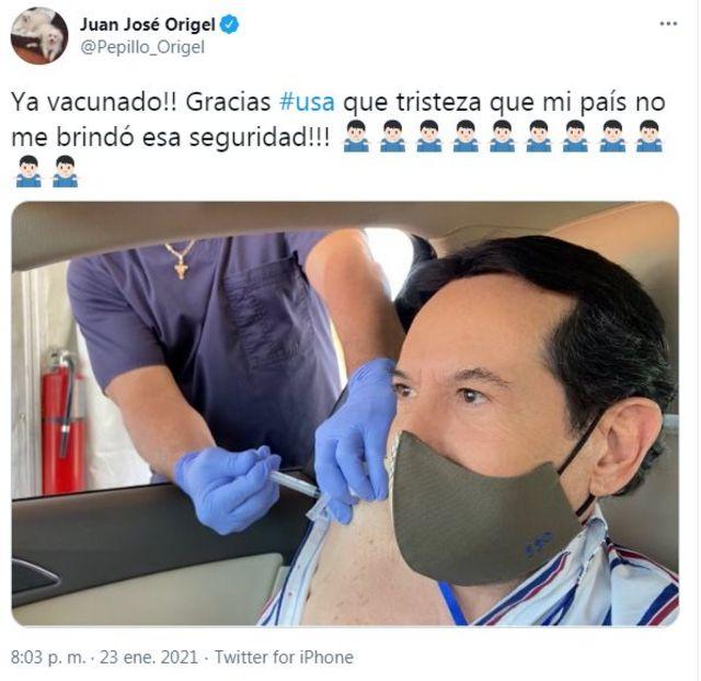 Un tuit de Juan José Origel
