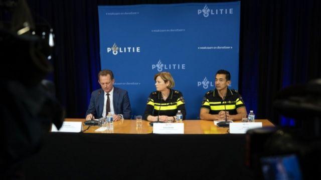 کنفرانس خبری پلیس هلند