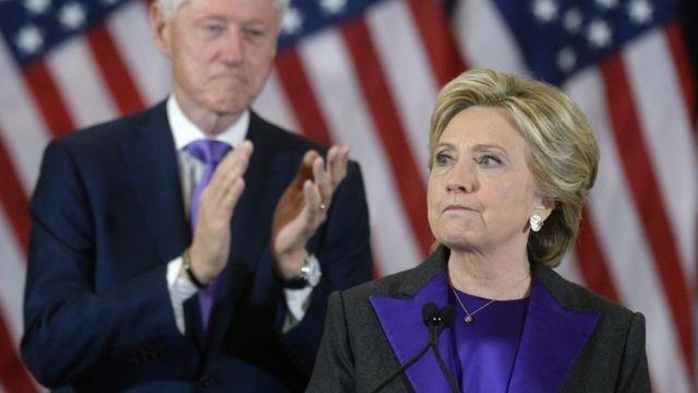 Hillary Clinton akitoa hotuba ya kukubali kushindwa