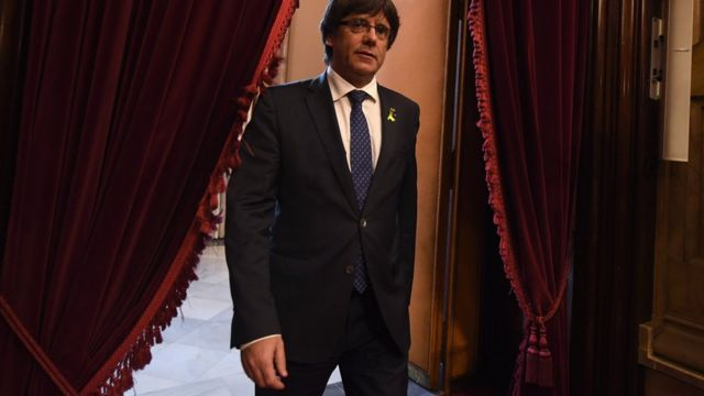 Carles Puigdemont, presidente depuesto del gobierno de Cataluña.