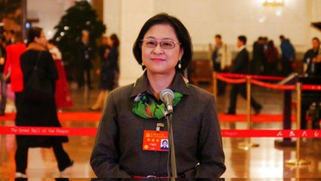 台籍代表卢丽安在中共十九大的悄然现身,成为中方政治宣传样板。