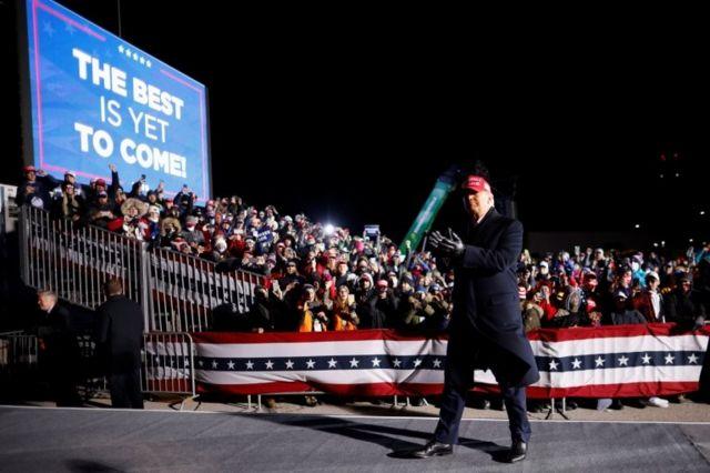 Trump en un mitin
