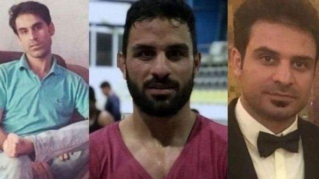 برادران افکاری از راست حبیب (محکوم به ۲۷ سال زندان) ، نوید (اعدام شد) و وحید افکاری (محکوم به ۵۴ سال زندان)