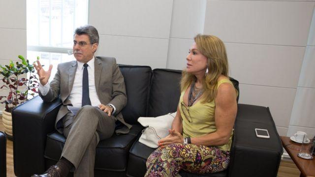 Romero Jucá e Teresa Surita
