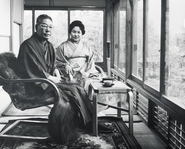Prime Minister Hayato Ikeda of Japan and his wife