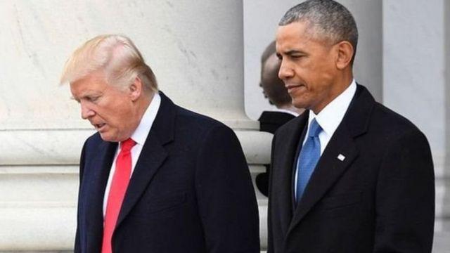 President Obama, Donald Trump