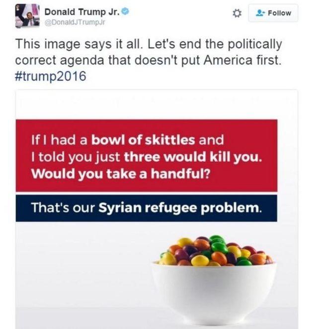 Mensaje de Donald Trump Jr