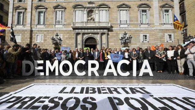 Protesta en Cataluña