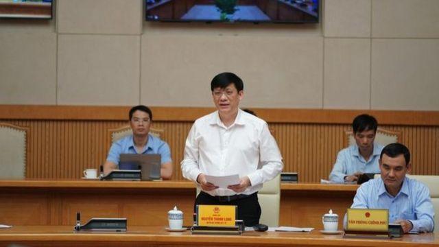 Quyền Bộ trưởng Y tế Nguyễn Thanh Long ngày 25/07 xác nhận ca nhiễm cộng đồng 416 tại cuộc họp Thường trực Chính phủ ngày 25/7 về phòng chống COVID-19