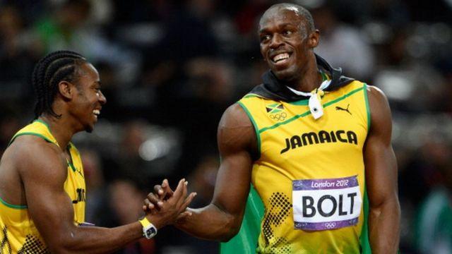 Usain Bolt aux jeux olympiques de Londres en 2012