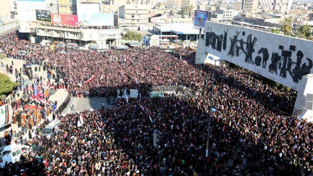مظاهرات حاشدة في بغداد